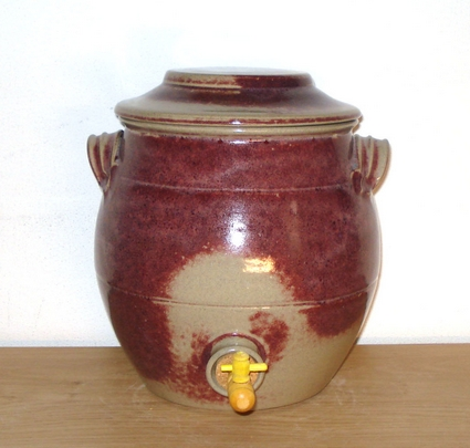 Vinegar pot kombucha pot 8 liter ox blood glasur