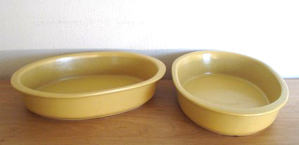 Baking dish oval ceramics